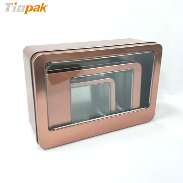 Large rectang;e metal packaging box for personal items