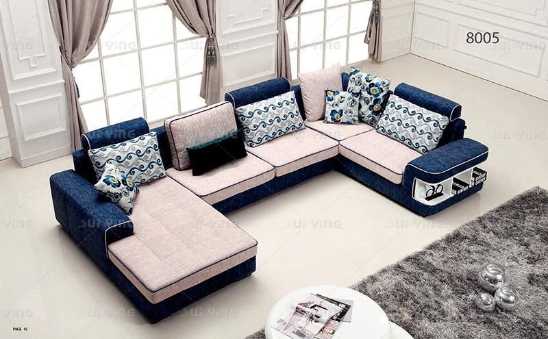 Nice Sofa Design Fabric Set 0411 Af567 In Living