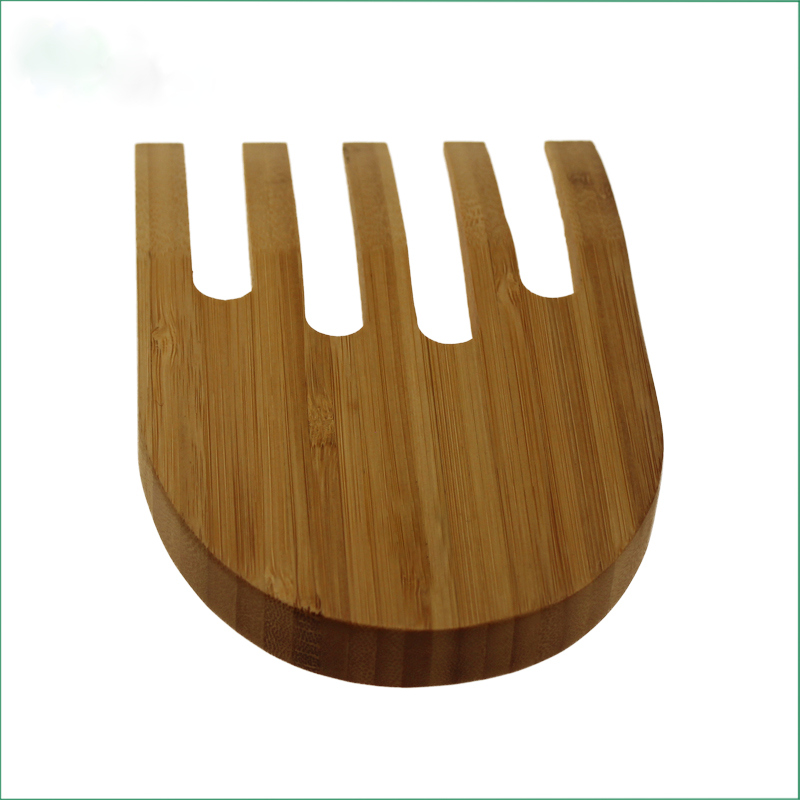 Bamboo salad serving hand for kitchen Bamboo salad hands salad serving tools for kitchen