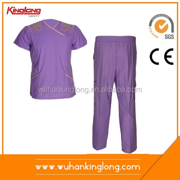 Simple style high quality cotton hospital housekeeping uniform