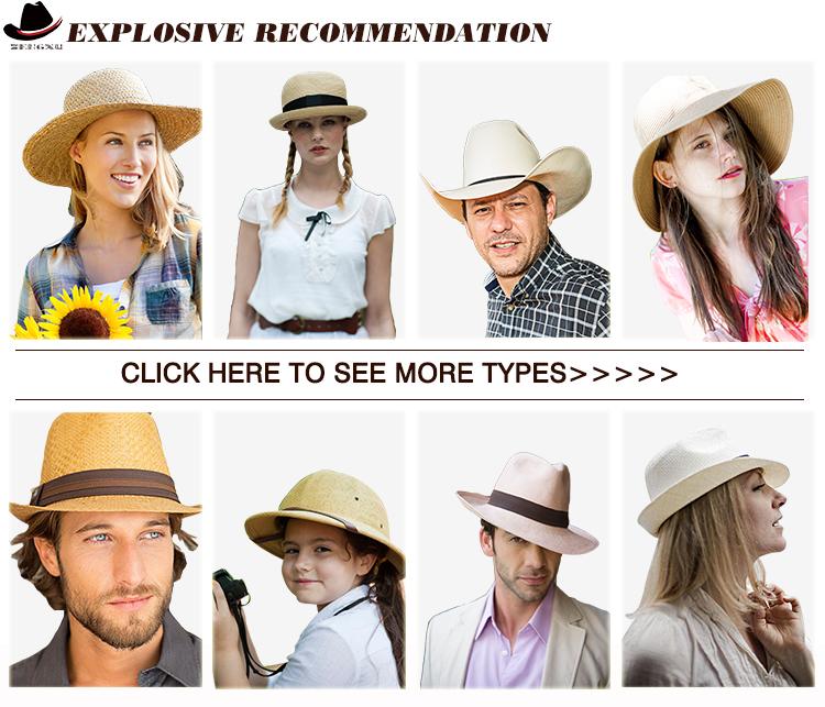 Homem Verão Aba do chapéu de Palha panamá Fedora Trilby Chapéus de Sol de  Praia Para 0a606d2bf91