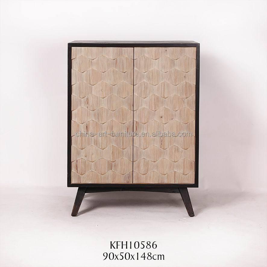 vintage reproduction 2 portes armoire à vin pour salle à manger ... - Meuble Cuisine Vintage 2