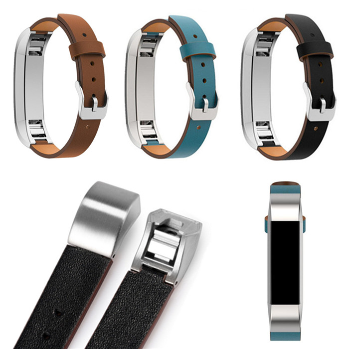 Luxury Band Plain Leather Strap For Fitbit Alta hr Classical Accessories