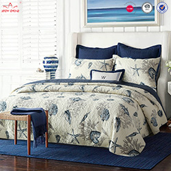 Manufacturer supply beautiful design embroidered bedcover quilted bedspread