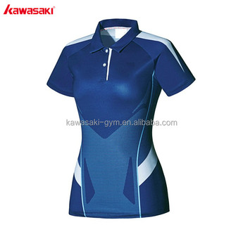 2017 new product sweat wicking short sleeve high quality eco-friendly tennis wear