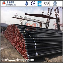 Black varnished HFW Pipeline for Oil,gas,water,construction supplier,6 inch SCH40