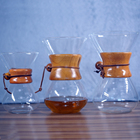 Wholesale classic series 800ml pyrex glass espresso coffee share pot