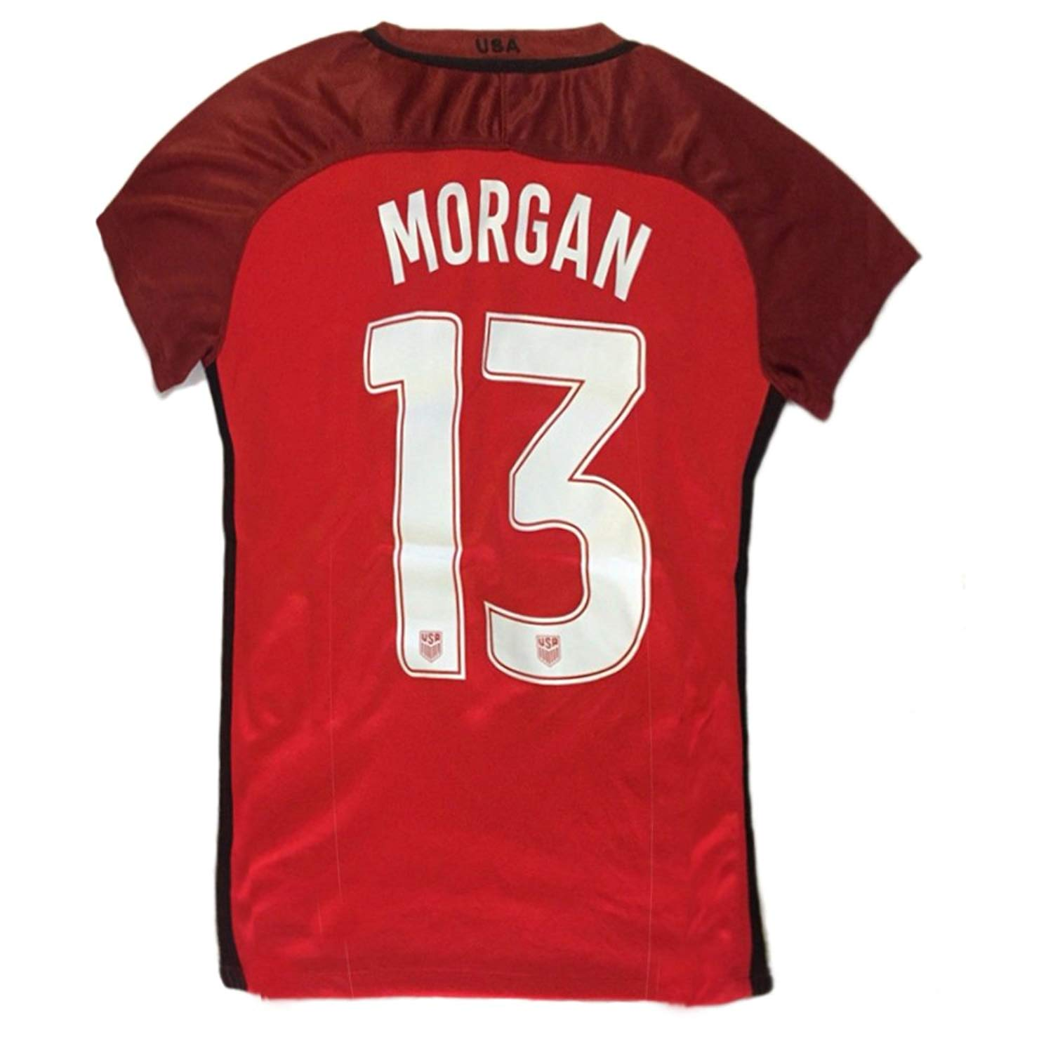 f40afb07b Get Quotations · Morgan  13 USA National Women s Alex Home Jersey Red
