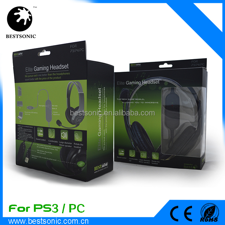 Factory Price Gaming Headset with Mic for xbox 360, PS3, PS4, PC, gaming headset for xbox 360