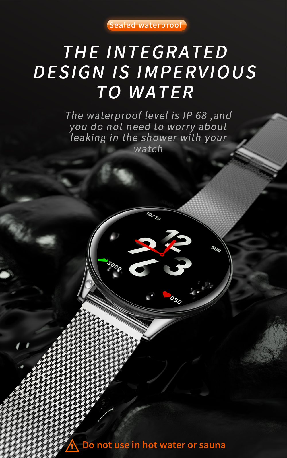 SN58 Smart Bracelet Heart Rate Blood Pressure  Bluetooth IP67 Waterproof GPS Smartwatch Bracelet for Android ios