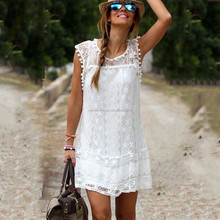 2016 New design Summer Fashion Dress Girl Beach Dresses lace dresses