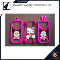 Cheap 3D stereo bumpers hello kitty silicone mobile phone case