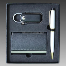 Engraved Gift Set of Business Card Holder and Pen - Personalized Gifts Idea