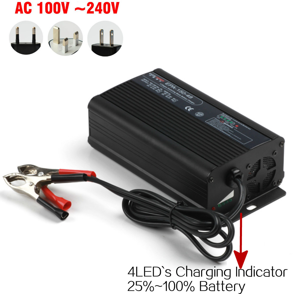 150w 36V 3amp intelligent lifepo4 Battery Charger Car battery charger with Aluminum case design