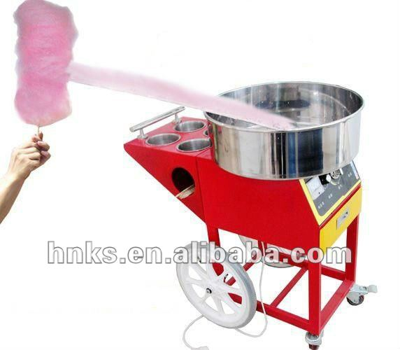 Cart type cotton candy making machine