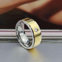 Latest Gold Ring Designs Jewelry Fashion CZ Ring 14k Gold Stainless Steel Ring