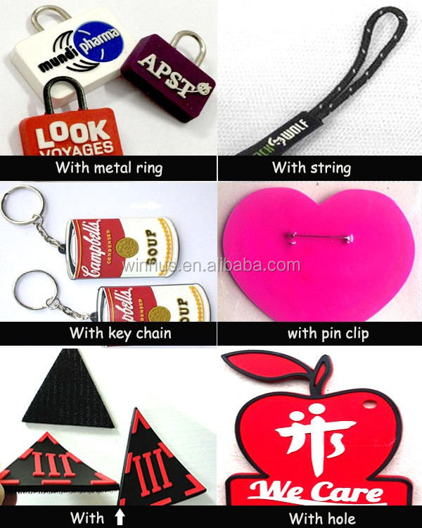 custom bags shoes clothes embossed logo transparent rubber label badge patches