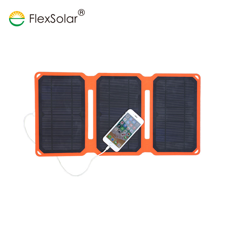Flexsolar 15W Portable Flexible Mini Solar Panel Battery Charger for iPhone Laptop