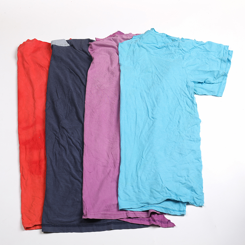 Mixed color T-shirt Recycled Cotton Rags 10KG bale