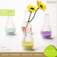 Party Wedding Decor Superior Quality Handmade Artificial Glass Flower Vase