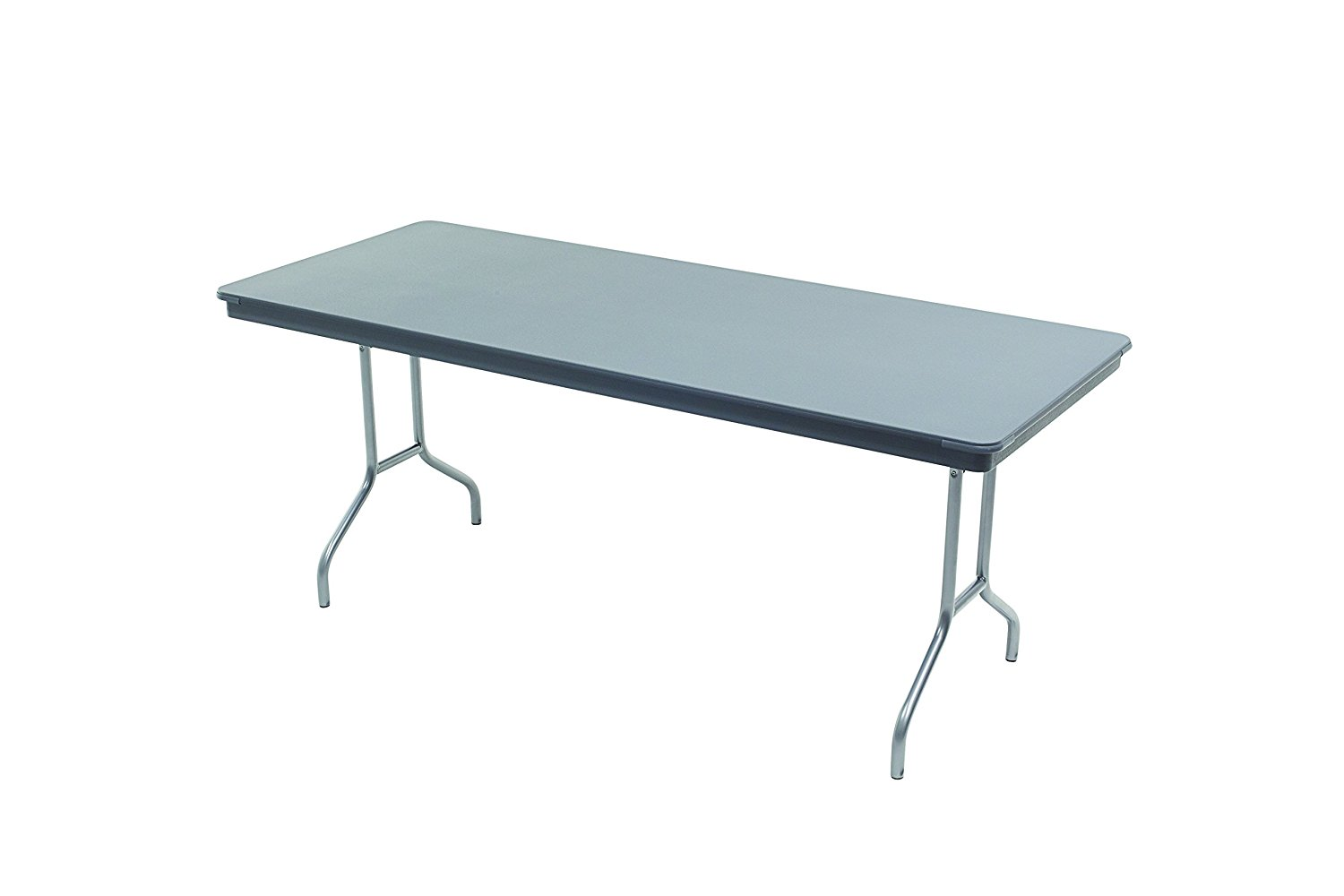 """Dynalite Featherweight Heavy, Duty ABS Plastic Folding Table, Rectangle, 36""""W x 96""""L x 29""""H"""
