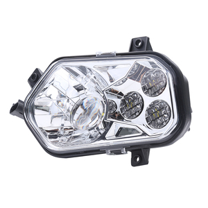 Hot sale high quality luxury ATV headlight black chrome cheap led light ATV with high low beam