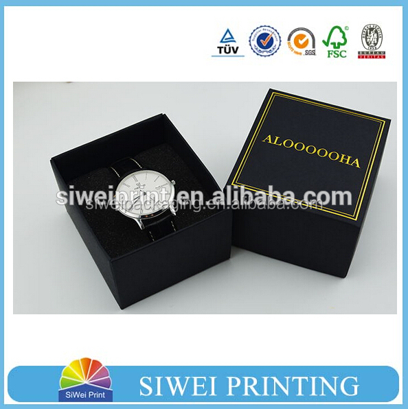 luxury wholesale branded custom gift watch packaging box with lid, wrist display storage mens luxury leather watch box
