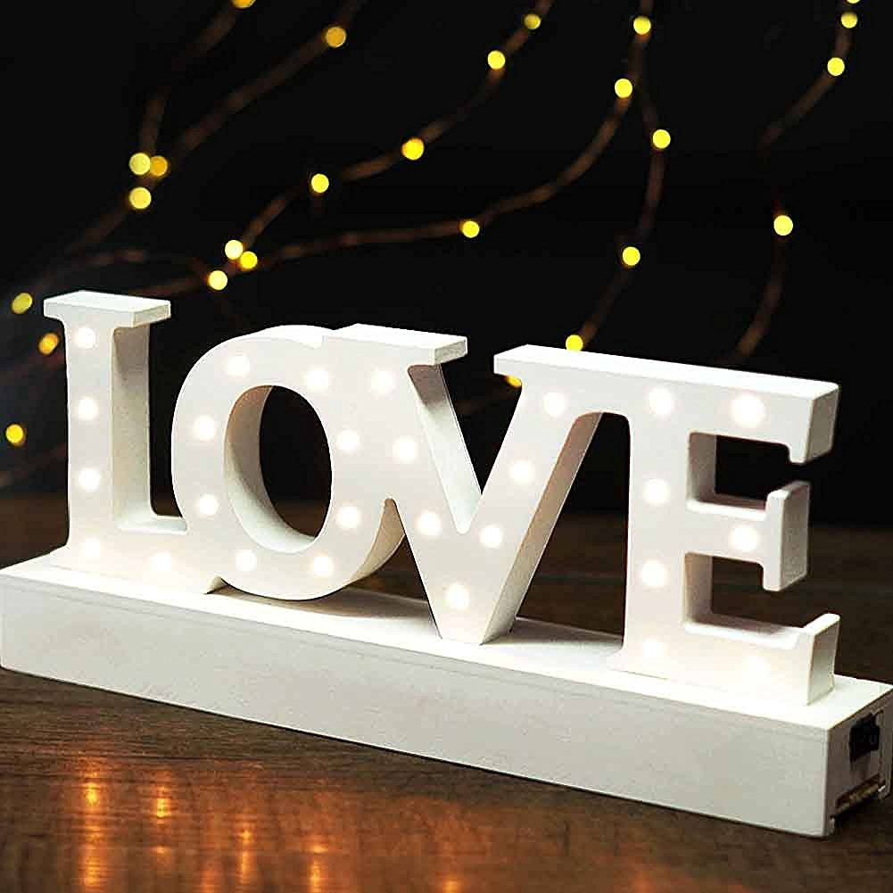 get quotations bright zeal wooden marquee sign love battery operated included ac power