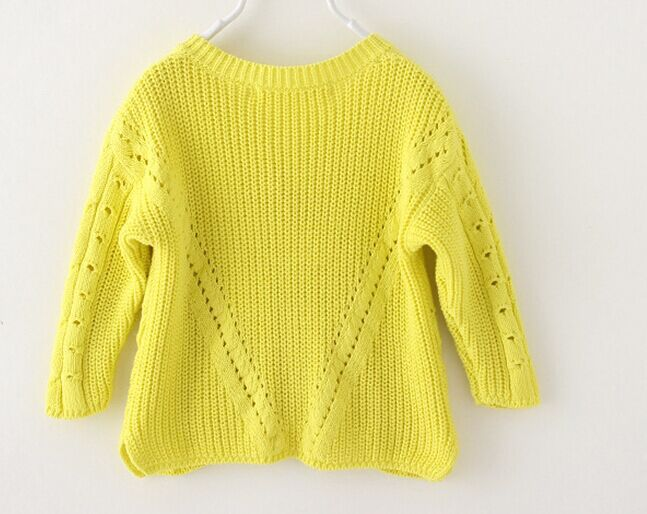 Factory direct sale new design v,neck 2,8T kids handmade sweaters wholesale  baby