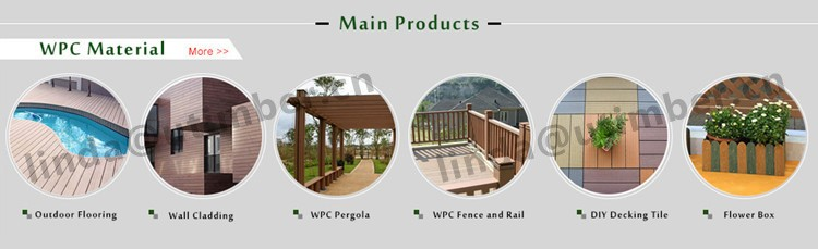 Outdoor waterproof wood plastic composite pergola