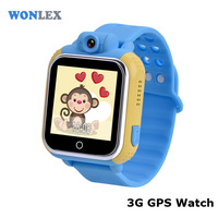 Wonlex 3g gps watch tracker for senior citizen/high accuracy pc real-time tracking watch
