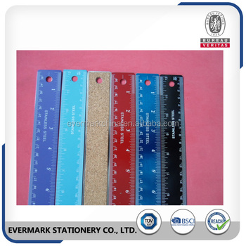 30cm 12 Inch Coloring Stainless Ruler Steel Eva Back Metal Ruler ...