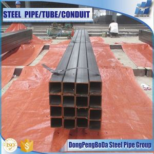 Black Square Steel Tube Export South Korea with Plastic Package