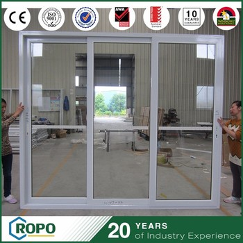 As2208 double glass sliding door with veka upvc profile for Sliding glass doors germany