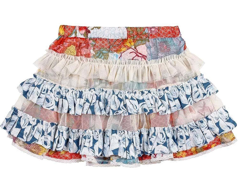 8447c13d37239 Get Quotations · Mimi   Maggie B2107 Kimono Flowers Ruffle Skirt-4
