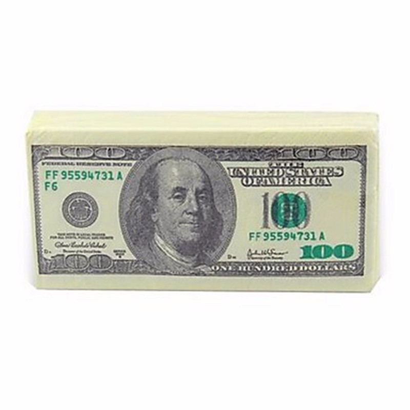 Factory Wholesale Dollar Bill Custom Printed Facial Tissue