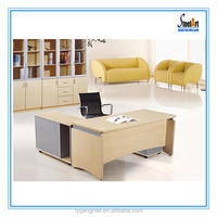 Modern executive l shaped office table design photos