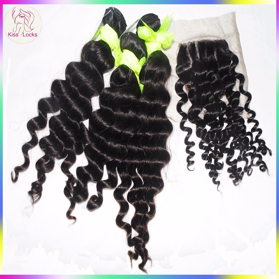 Thick and Bouncy Highly Feedback Human Hair Products Eurasian Loose Deep Style Hair Extension To Achieve Your Dream