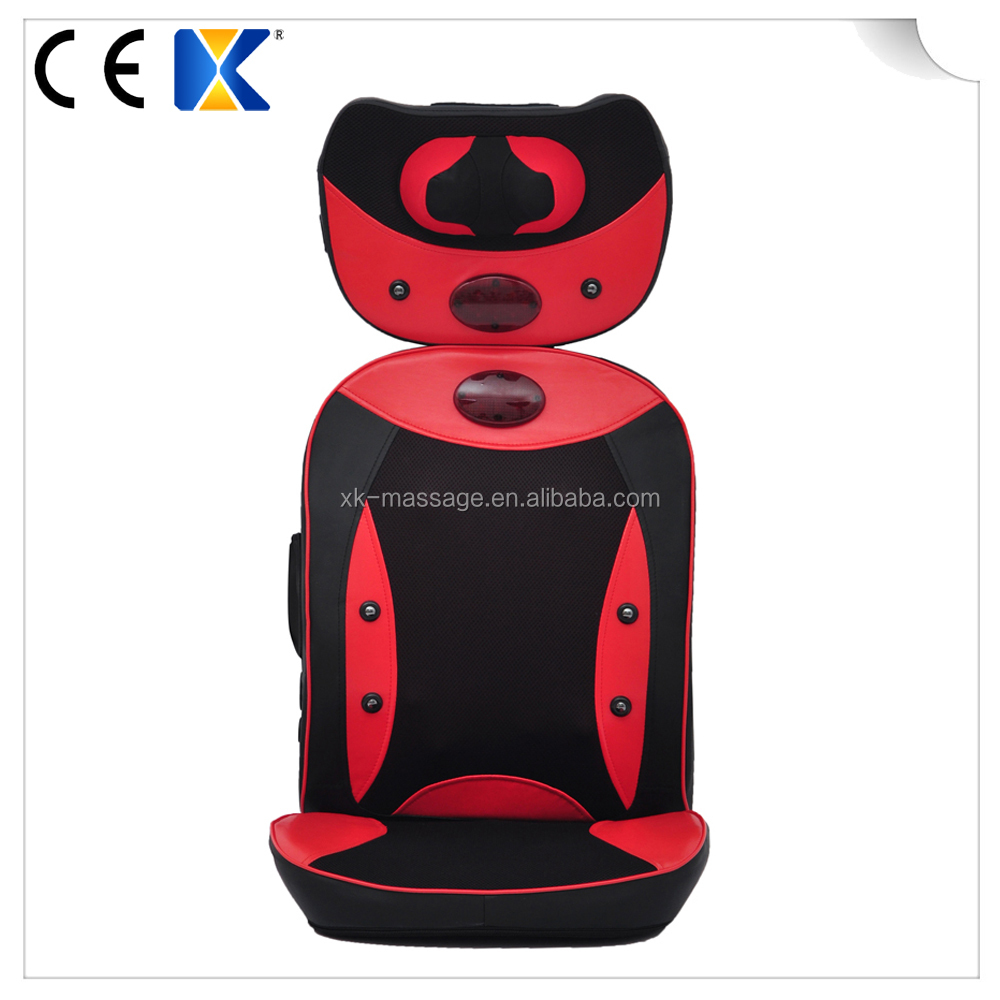 Electric relax chair infrared heat massage cushion 3D Shiatsu and Tapping Full Back Massager
