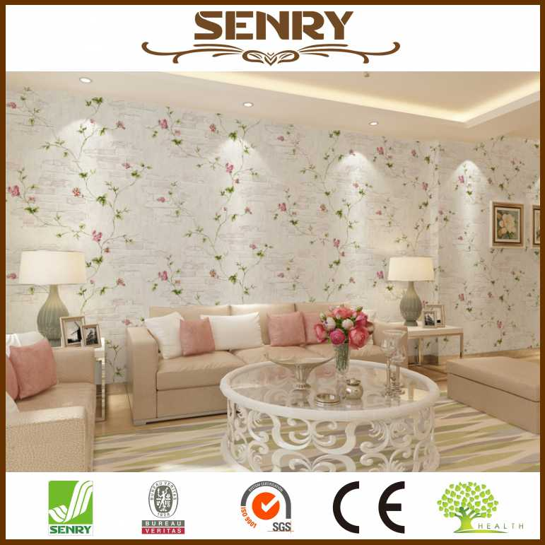 modern wallpaper 3d brick wallpaper with plant murals for bedroom wall