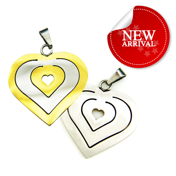 Latest new design gold heart necklace