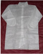 disposable nonwoven PP/sms/pe lab coat medical supplies surgical