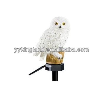 Solar Powered Outdoor Glowing Garden Owl