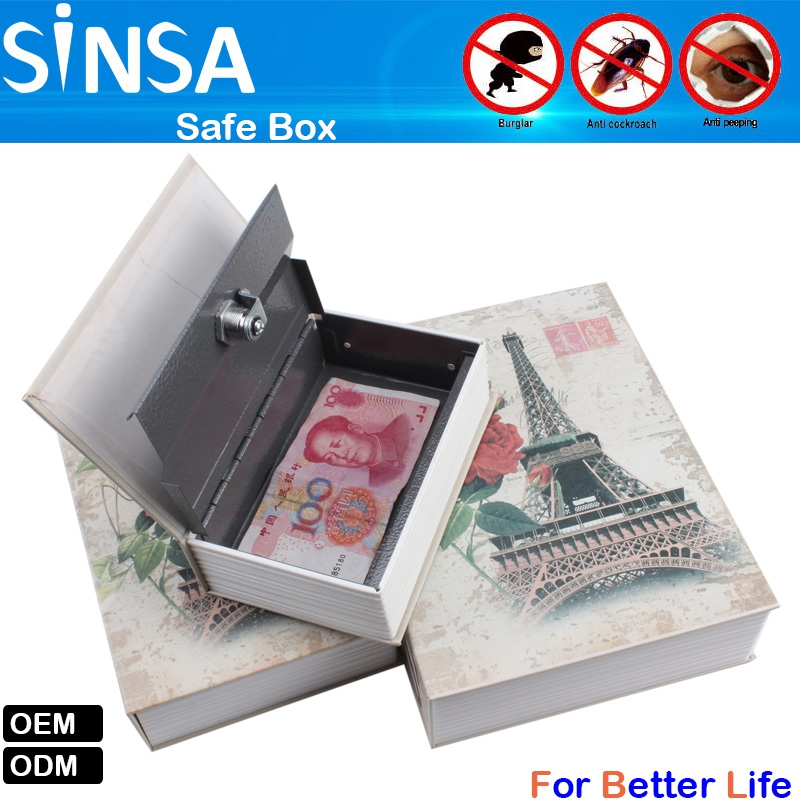 Hidden Mini Safe Box Dictionary Book Safe Box With Key Lock Safe Lock Box -  Buy Fake Book Storage Box,Book Safe Lock Box,Hidden Key Box Product on