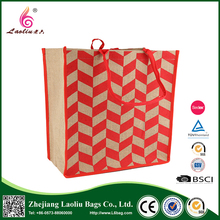Hot Sale High Quality Custom Printing Recyclable Folding Shopping Jute Bag