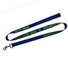 Polyester Woven Fabric Leather Notepad With Lanyard Blue With Pen J Hook Badge Holder
