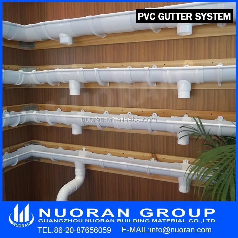 Factory Cheap Pvc Plastic Rain Gutter Downspout 65deg