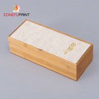 Champagne Bottle Gift Box Recyclable Luxury Customized Faux Wooden Paper Packing Box