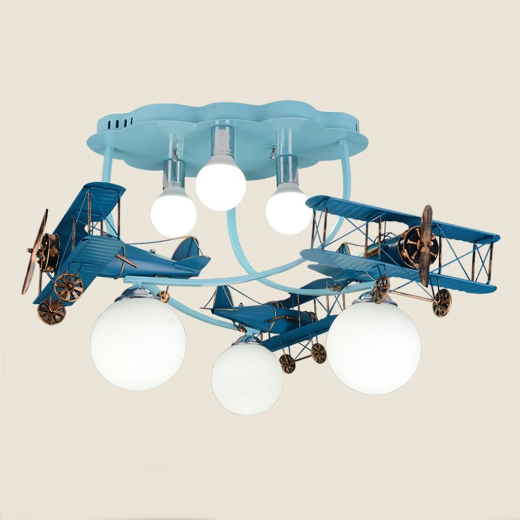 Fu Man Li Trading Company American children room plane ceiling light boys and girls bedroom lights creative cartoon lamps A+