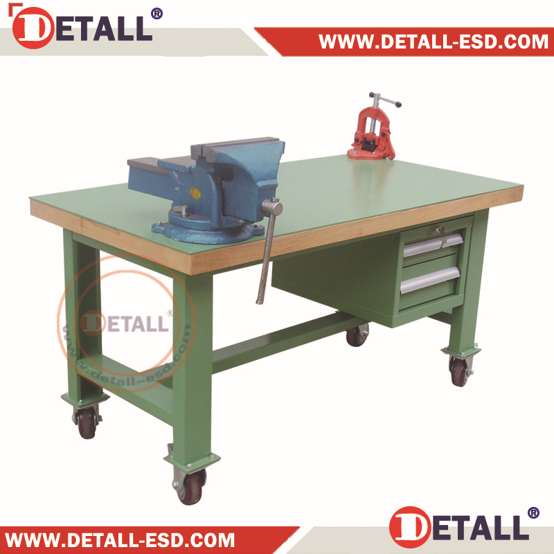 Factory Used Tool Table With Bench Vice